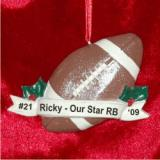 Football Christmas Ornament Personalized by Russell Rhodes