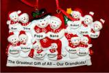 Large Family of 11 Kids or Our 11 Grandkids Christmas Ornament Personalized by Russell Rhodes