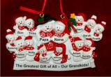 Large Family of 12 Kids or Our 12 Grandkids Christmas Ornament Personalized by Russell Rhodes