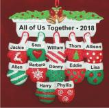 Festive Mittens for 12 Personalized Christmas Ornament Personalized by Russell Rhodes