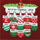 Festive Mittens for 13 Personalized Christmas Ornament Personalized by Russell Rhodes