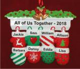 Festive Mittens for 8 Personalized Christmas Ornament Personalized by Russell Rhodes