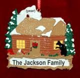 Cabin Christmas Ornament Comfy Woods Personalized FREE by Russell Rhodes