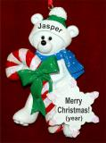 Toddler Christmas Ornament Snow Bear Personalized FREE by Russell Rhodes