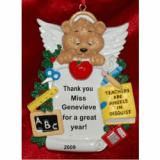 You're an Angel!  Great Teacher Christmas Ornament Personalized by Russell Rhodes