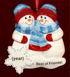 Best of Friends Christmas Ornament Personalized FREE by Russell Rhodes