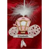 Princess Carriage with Plume Christmas Ornament Personalized by Russell Rhodes