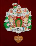 Couple in Love Heart Christmas Ornament Personalized by Russell Rhodes