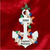 Anchors Away      Christmas Ornament Personalized by Russell Rhodes
