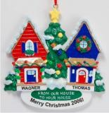 From Our House to Yours Christmas Ornament Personalized by Russell Rhodes