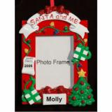 Santa and Me Photo Frame Personalized Christmas Ornament Personalized by Russell Rhodes