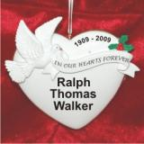 Memorial Heart of Remembrance Christmas Ornament Personalized by Russell Rhodes