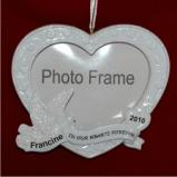 Memorial Photo Frame Christmas Ornament Personalized by Russell Rhodes