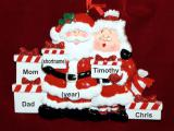 Family Christmas Ornament Xmas Presents for 5 Personalized FREE by Russell Rhodes