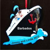 Cruising Couple Christmas Ornament Personalized by Russell Rhodes