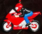 Personalized Motorcycle Christmas Ornament Sports Bike Personalized by Russell Rhodes