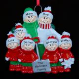 Winter Fun Family Christmas Ornament for 7 Personalized by Russell Rhodes