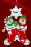 Personalized Siblings Christmas Ornament Festive Stockings 2 Personalized by Russell Rhodes