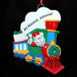 Personalized Train Christmas Ornament Santa's Coming Personalized by Russell Rhodes