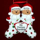 Personalized Grandparents Christmas Ornament Stocking Cute 2 Grandkids