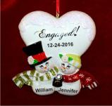 Blissful Engagement Christmas Ornament Personalized by Russell Rhodes