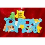 Baby Boy Fun, B-A-B-Y Christmas Ornament Personalized by Russell Rhodes