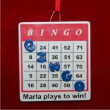 Bingo Christmas Ornament Personalized by Russell Rhodes