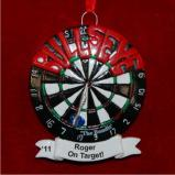 On Target Bullseye Christmas Ornament Personalized by Russell Rhodes