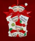 Personalized Family Christmas Ornament Xmas Gift Just the Kids 6 by Russell Rhodes