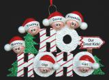 Personalized Family Christmas Ornament Ho Ho Ho Just the Kids 6 by Russell Rhodes