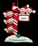 Great Grandparents Christmas Ornament 5 Great Grandkids Personalized by Russell Rhodes