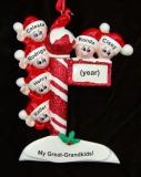 Great Grandparents Christmas Ornament 6 Great Grandkids Personalized by Russell Rhodes