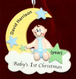 Baby Christmas Ornament Sweet Boy Personalized FREE by Russell Rhodes