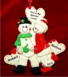 One to Love to Last Forever Couple Christmas Ornament Personalized by Russell Rhodes