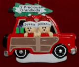 Personalized Grandparents Christmas Ornament Woody 2 Grandkids by Russell Rhodes