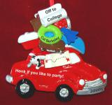 Personalized Car's Loaded & I'm Off to College Christmas Ornament by Russell Rhodes