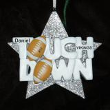 Personalized Football Christmas Ornament Super Star by Russell Rhodes