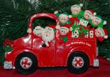 Personalized Family Tabletop Christmas Decoration Fire Engine Family 8 Personalized by Russell Rhodes