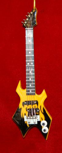 Yellow and Black Axe Guitar