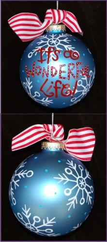 Hand Painted It's a Wonderful Life Grandkids