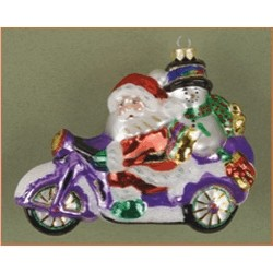 Santa's Out for a Ride, Glass