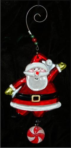 Santa Celebration Fused Glass