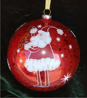 Santa Glass Ball for up to 12 People