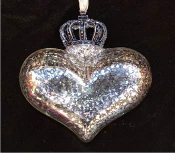 Crowned Heart Silver Reflections