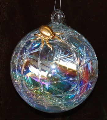 Christmas Spider Glass