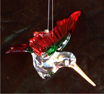 Spring Hummingbird Glass