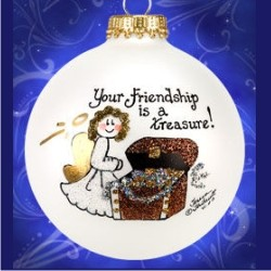 Treasure Your Friendship Glass
