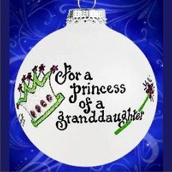 Princess of a Granddaughter Glass Ball