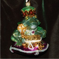 Polish Blown Glass Frog