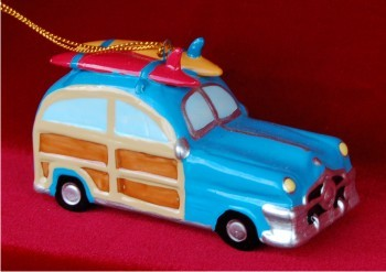 Surfing Woody Wagon Ocean Blue